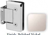 Polished Nickel VAN Series Beveled with Round Edges Wall Mount Short Back Plate Hinge - VA781C_PN