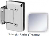 Satin Chrome VAN Series Beveled with Round Edges Wall Mount Short Back Plate Hinge - VA781C_SCR
