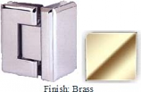 Brass VAN Series Beveled with Round Edges 90 Degrees Glass-To-Glass Hinge - VA781D_BR