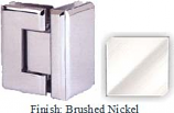 Brushed Nickel VAN Series Beveled with Round Edges 90 Degrees Glass-To-Glass Hinge - VA781D_BN
