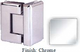 Chrome VAN Series Beveled with Round Edges 90 Degrees Glass-To-Glass Hinge - VA781D_CR