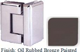 Oil Rubbed Bronze Painted VAN Series Beveled with Round Edges 90 Degrees Glass-To-Glass Hinge - VA781D_ORB