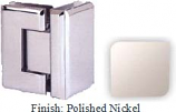 Polished Nickel VAN Series Beveled with Round Edges 90 Degrees Glass-To-Glass Hinge - VA781D_PN
