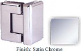 Satin Chrome VAN Series Beveled with Round Edges 90 Degrees Glass-To-Glass Hinge - VA781D_SCR
