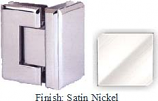 Satin Nickel VAN Series Beveled with Round Edges 90 Degrees Glass-To-Glass Hinge - VA781D_SN