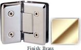 Brass VAN Series Beveled with Round Edges 135 Degree Glass-to-Glass Hinge - VA781E_BR