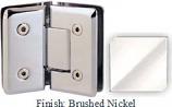 Brushed Nickel VAN Series Beveled with Round Edges 135 Degree Glass-to-Glass Hinge - VA781E_BN