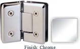 Chrome VAN Series Beveled with Round Edges 135 Degree Glass-to-Glass Hinge - VA781E_CR