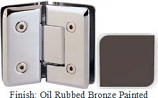 Oil Rubbed Bronze Painted VAN Series Beveled with Round Edges 135 Degree Glass-to-Glass Hinge - VA781E_ORB