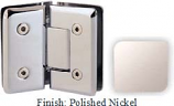 Polished Nickel VAN Series Beveled with Round Edges 135 Degree Glass-to-Glass Hinge - VA781E_PN