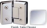 Satin Chrome VAN Series Beveled with Round Edges 135 Degree Glass-to-Glass Hinge - VA781E_SCR