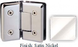 Satin Nickel VAN Series Beveled with Round Edges 135 Degree Glass-to-Glass Hinge - VA781E_SN