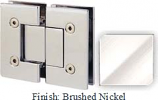 Brushed Nickel VAN Series with Square Edges 180 Degree Glass-To-Glass Hinge - VA782A_BN