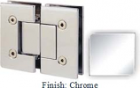 Chrome VAN Series with Square Edges 180 Degree Glass-To-Glass Hinge - VA782A_CR