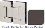 Oil Rubbed Bronze Painted VAN Series with Square Edges 180 Degree Glass-To-Glass Hinge - VA782A_ORB