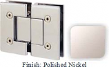 Polished Nickel VAN Series with Square Edges 180 Degree Glass-To-Glass Hinge - VA782A_PN