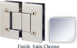 Satin Nickel VAN Series with Square Edges 180 Degree Glass-To-Glass Hinge - VA782A_SN