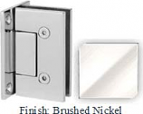 Brushed Nickel VAN Series with Square Edges Wall Mount Full Back Plate Hinge - VA782B_BN