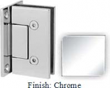 Chrome VAN Series with Square Edges Wall Mount Full Back Plate Hinge - VA782B_CR