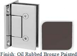 Oil Rubbed Bronze Painted VAN Series with Square Edges Wall Mount Full Back Plate Hinge - VA782B_ORB