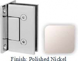 Polished Nickel VAN Series with Square Edges Wall Mount Full Back Plate Hinge - VA782B_PN