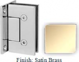 Satin Brass VAN Series with Square Edges Wall Mount Full Back Plate Hinge - VA782B_SBR