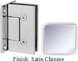Satin Chrome VAN Series with Square Edges Wall Mount Full Back Plate Hinge - VA782B_SCR