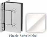 Satin Nickel VAN Series with Square Edges Wall Mount Full Back Plate Hinge - VA782B_SN