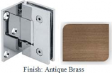 Antique Brass VAN Series with Square Edges Wall Mount with Offset Full Plate Hinge - VA782C-2_ABR