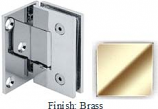 Brass VAN Series with Square Edges Wall Mount with Offset Full Plate Hinge - VA782C-2_BR