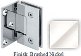 Brushed Nickel VAN Series with Square Edges Wall Mount with Offset Full Plate Hinge - VA782C-2_BN
