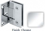 Chrome VAN Series with Square Edges Wall Mount with Offset Full Plate Hinge - VA782C-2_CR