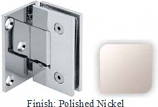 Polished Nickel VAN Series with Square Edges Wall Mount with Offset Full Plate Hinge - VA782C-2_PN