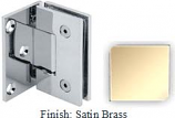 Satin Brass VAN Series with Square Edges Wall Mount with Offset Full Plate Hinge - VA782C-2_SBR