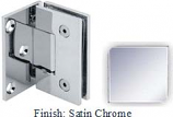 Satin Chrome VAN Series with Square Edges Wall Mount with Offset Full Plate Hinge - VA782C-2_SCR