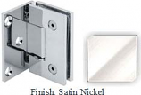Satin Nickel VAN Series with Square Edges Wall Mount with Offset Full Plate Hinge - VA782C-2_SN