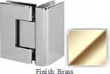 Brass VAN Series with Square Edges 90 Degrees Glass-To-Glass Hinge - VA782D_BR