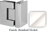 Brushed Nickel VAN Series with Square Edges 90 Degrees Glass-To-Glass Hinge - VA782D_BN