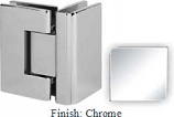 Chrome VAN Series with Square Edges 90 Degrees Glass-To-Glass Hinge - VA782D_CR