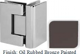 Oil Rubbed Bronze Painted VAN Series with Square Edges 90 Degrees Glass-To-Glass Hinge - VA782D_ORB