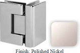 Polished Nickel VAN Series with Square Edges 90 Degrees Glass-To-Glass Hinge - VA782D_PN