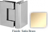 Satin Brass VAN Series with Square Edges 90 Degrees Glass-To-Glass Hinge - VA782D_SBR