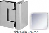Satin Chrome VAN Series with Square Edges 90 Degrees Glass-To-Glass Hinge - VA782D_SCR