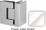 Satin Nickel VAN Series with Square Edges 90 Degrees Glass-To-Glass Hinge - VA782D_SN