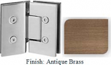 Antique Brass VAN Series with Square Edges 135 Degree Glass-to-Glass Hinge - VA782E_ABR