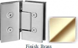 Brass VAN Series with Square Edges 135 Degree Glass-to-Glass Hinge - VA782E_BR