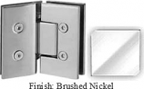 Brushed Nickel VAN Series with Square Edges 135 Degree Glass-to-Glass Hinge - VA782E_BN