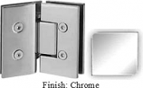 Chrome VAN Series with Square Edges 135 Degree Glass-to-Glass Hinge - VA782E_CR