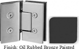 Oil Rubbed Bronze Painted VAN Series with Square Edges 135 Degree Glass-to-Glass Hinge - VA782E_ORB
