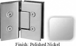 Polished Nickel VAN Series with Square Edges 135 Degree Glass-to-Glass Hinge - VA782E_PN